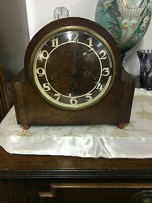 Antique Westminster Chiming Clock Fully Works Needs New Pendulum No Key