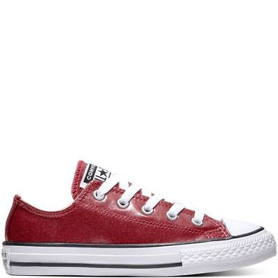 Converse Chuck Taylor All Star Ox Girls Trainers Pink Glitter UK 10-5