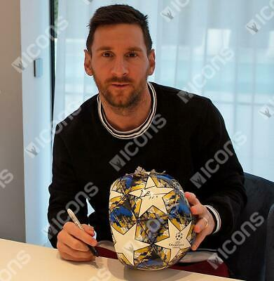 Lionel Messi Official Genuine Hand Signed 2019-20 Champions League Football COA