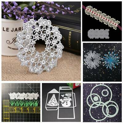 DIY Cards Hollow Flower Cutting Dies Stencil Scrapbooking Embossing Craft