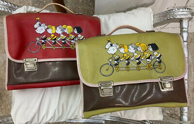 2 CARTELLE SCUOLA SNOOPY e CHARLIE BROWN BAG SCHOOL  ITALY VINTAGE  ANNI 70 80