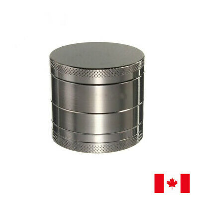 Gun Metal Zinc Alloy 4 Layer 40mm Spice Herb Grinder w/ Scraper