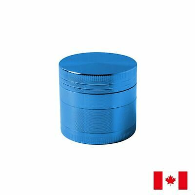 Blue Zinc Alloy 4 Layer 40mm Spice Herb Grinder w/ Scraper