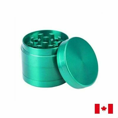 Green Zinc Alloy 4 Layer 40mm Spice Herb Grinder w/ Scraper