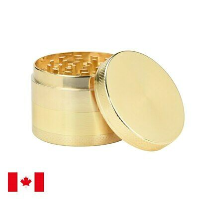 Gold Zinc Alloy 4 Layer 50mm Spice Herb Grinder w/ Scraper