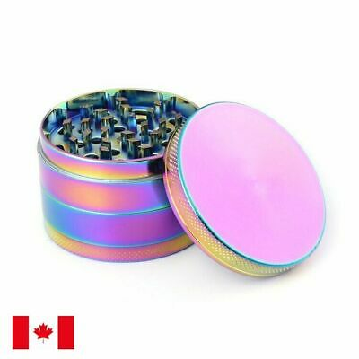 Rainbow Zinc Alloy 4 Layer 63mm Spice Herb Grinder w/ Scraper
