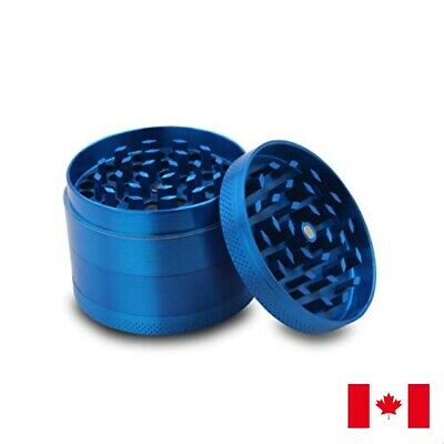 Blue Zinc Alloy 4 Layer 50mm Spice Herb Grinder w/ Scraper
