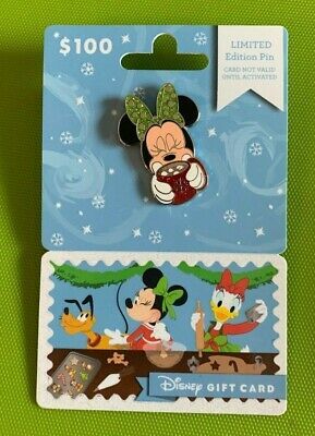 Disney Gift Card $100 Loaded w/ Minnie Mouse Hot Cocoa Pin 2019