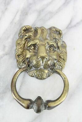 Heavy Brass Lion Door Knocker, Made in England