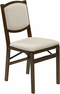 Stakmore Contemporary Upholstered Back Folding Chair Finish, Set of 2, Fruitwood