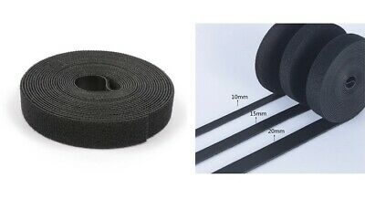 Hook and & Loop Back To Back Strap Tape Roll Black, White, Grey Rolls Of Tape