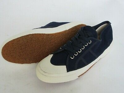 Ital Board Army Shoes Canvas Navy Blue Canvas Trainers Sneakers Size 42