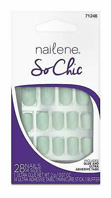 Nailene So Chic Nails Mint 71246 - 28 Nails - New