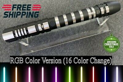 Jedi Star Wars Lightsaber Sword Dueling Force RGB Multi Colors Cosplay Prop NEW