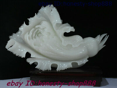 Collect Chinese 100% Natural White Jade Carving Chinese Cabbage Exquisite Statue