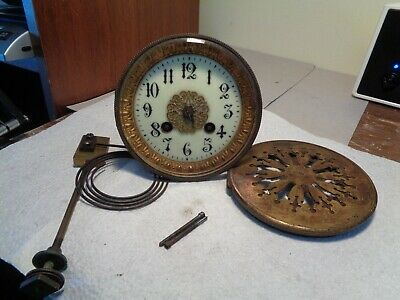 Antique-French-Clock Movement-Ca.1900-To Restore-#K209A