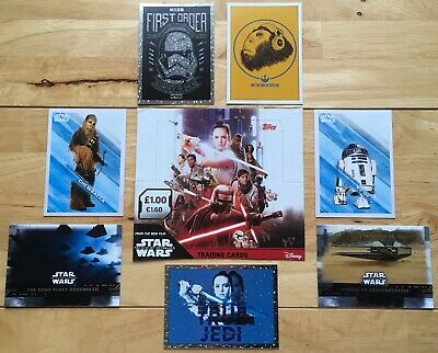 Topps PART 2 Star Wars THE RISE of SKYWALKER Cards, Free Post, Genuine, Purple