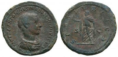 Ancient Roman Imperial Coins - Diadumenian - Spes Sestertius. 218 AD.