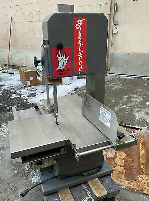Fleetwood B-25 H Table & Countertop Meat & Bone Saw Bandsaw 1HP 110V Used
