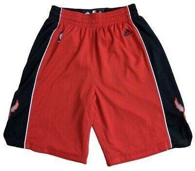 Adidas Mens Size M NBA Toronto Raptors Basketball Shorts Red Black 9809A