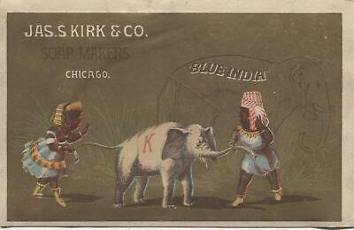 """Jas. S. Kirk & Co. Soap Makers Antique Trade Card, Chicago IL - 5"""" x 3.25"""""""
