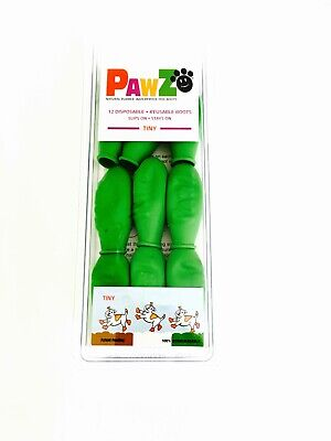 PawZ Protex Dog Boots Water-Proof Paws Disposable Reusable Tiny Apple/Gree(A3~7)