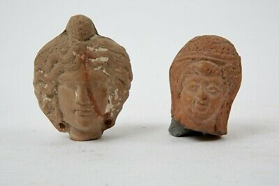 Lot of Ancient Hellenistic Terracotta Heads c.3rd century BC. Size 2 1/4 - 2 3/4