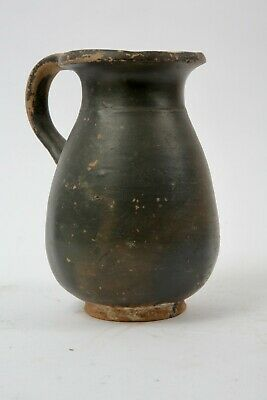 Ancient Apulian Black Ware Pottery oinochoe c.350 BC. Size 7 1/8 inches high.