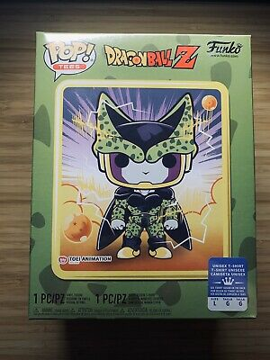 Funko PoP! Tees Perfect Cell Metallic Dragonball Z Large Tee Gamestop Exclusive