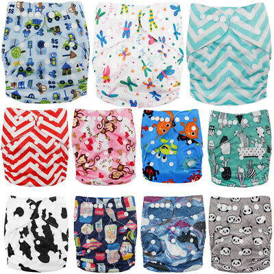 Reusable Cloth Nappy Washable Baby Pocket Diaper Standard Adjustable Cover Wrap