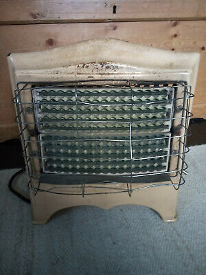 Vintage Belling 402 Enamelled Cast Iron Electric Fire