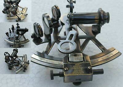 Nautical Handmade Brass Sextant Vintage Collectible Venture Germany Antique Look