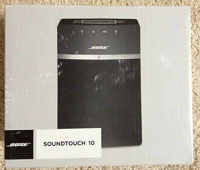 Bose SoundTouch 10 wireless Wi-Fi Bluetooth Speaker, BLACK Compatible with Alexa