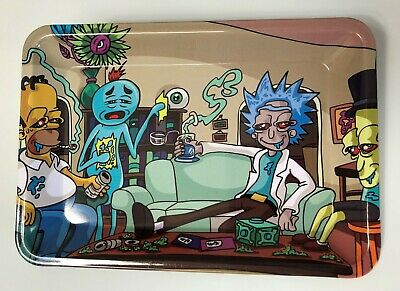 Cartoons Rolling Tray Metal Plate Cigarette Rolling tobacco use only