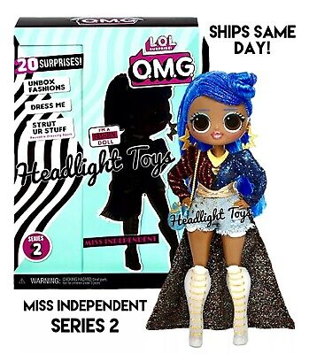 """1 Authentic LOL Surprise MISS INDEPENDENT OMG 10"""" Fashion Doll Series 2 Wave 1"""