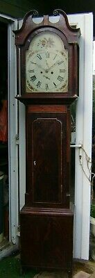 Antique Scottish Grandfather Clock - 8 day - For Restoration.