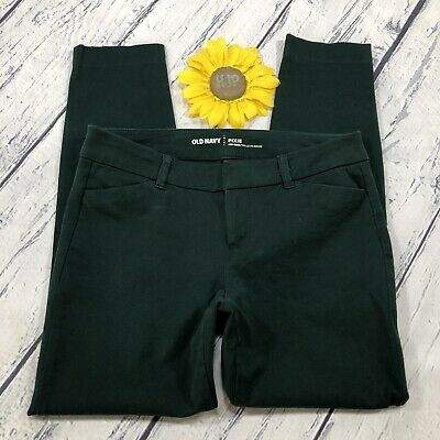 Old Navy Pixie Skinny Pants Size 2 Womens Stretch Mid Rise Fir Ever Green ls389