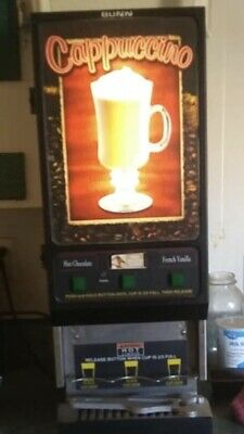BUNN CAPPUCCINO MACHINE FMD-3 SST. 3 HOPPERS/FLAVORS Good CONDITION