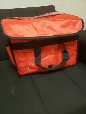 "New Excellent Insulated Food Delivery Bag, Pan Carrier Red Nylon ,16""x10""x10"""