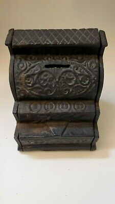 Vintage Cast Iron Junior Cash Register Coin Bank
