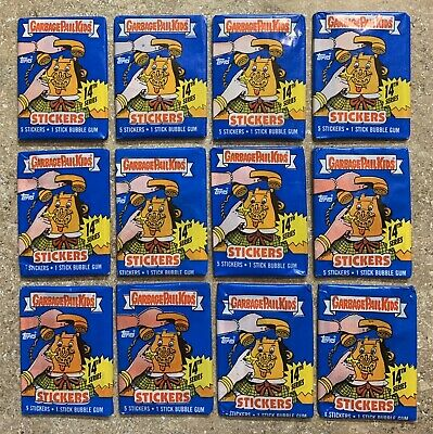 1988 Garbage Pail Kids 14th Series-12 Different Unopened Pack Lot x12 Packs! TWT