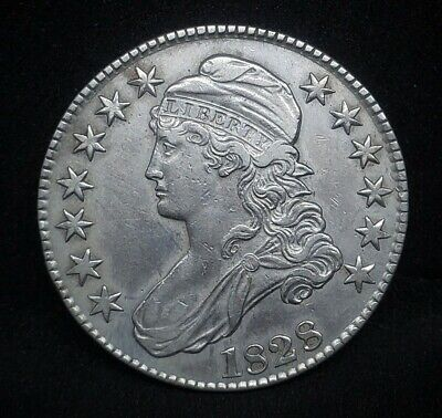 1828 Capped Bust Half Dollar  |  *Silver*  -Very Fine-   *124