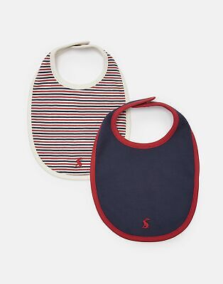 Joules Baby Oops 2 Pk Jersey Bibs - FRENCH NAVY in One Size