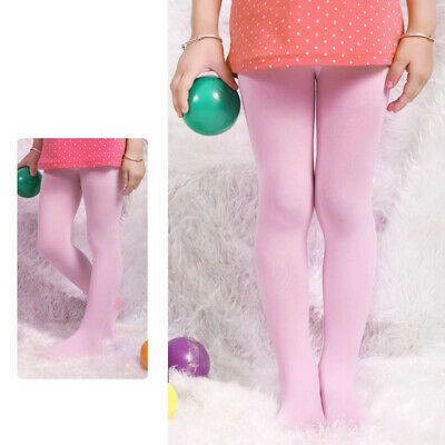 Kids Girls Soft Pantyhose Tights Stockings Ballet Dance Shiny Socks Candy Color