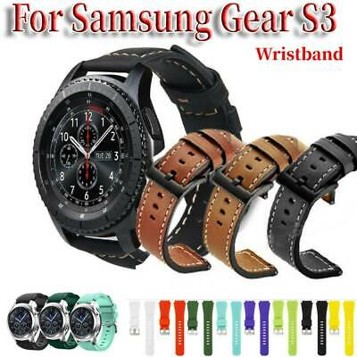 For Samsung Gear S3 Leather Band Bracelet Sport Watch Strap Luxury Replacement