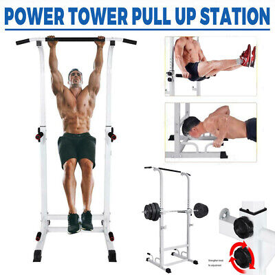 Power Rack Pull Chin Up Bars Squat Lift Cage Fitness Workout Strength Training