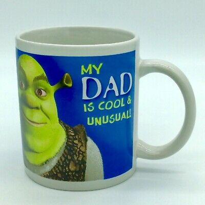 SHREK My Dad is Cool & Unusual Coffee Mug Cup Fathers Day Gift Rare None Online