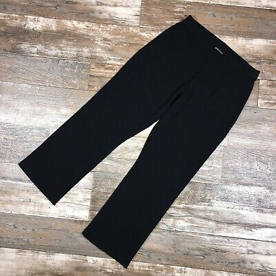 EILEEN FISHER Womens Pants Small Black Wool Blend Knit Pull On Stretch