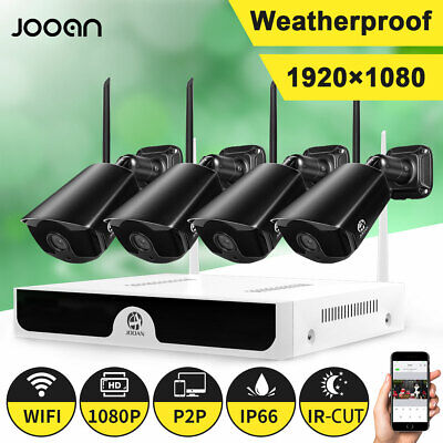 Wire-less WIFI HD 1080P Security WI-FI Camera System Set 8CH NVR Home Kits HDD