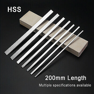HSS High Speed Steel Lathe Bar Turning Tool Square White Steel Rod 200mm Long